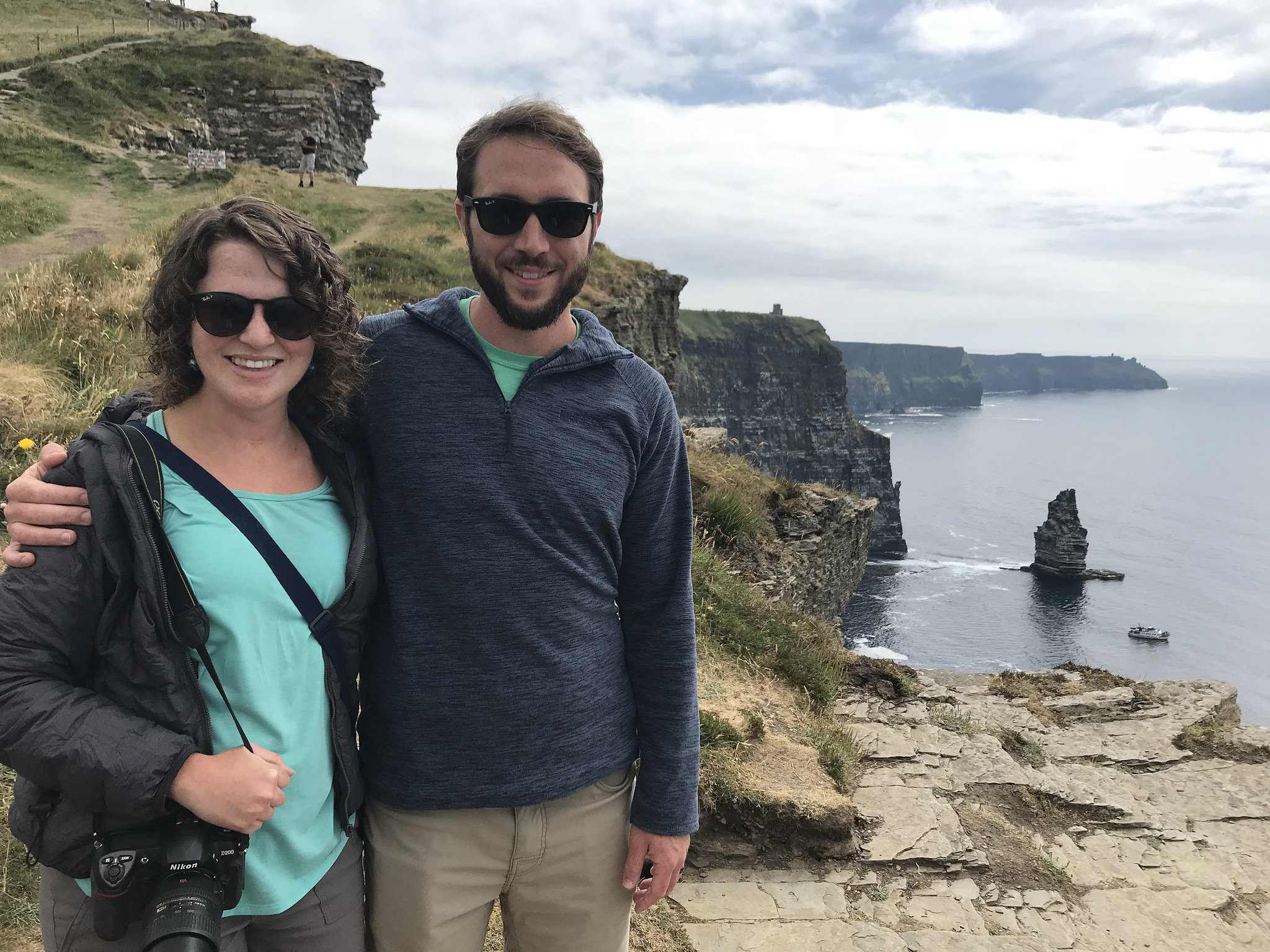 Heather and Dan at Cliffs of Moher